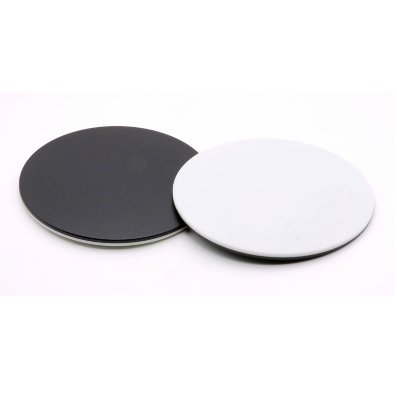 120mm Diameter Plastic Round Plate Load Board Working Stage White Black Board for Biological Stereo Microscope Bottom Plate WG02.225
